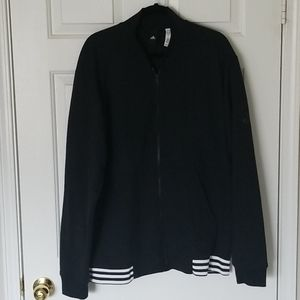 Black Adidas Fleece Bombet Jacket XL Good Used